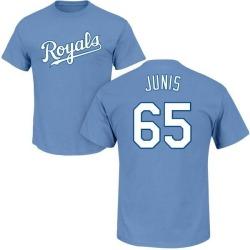 Men's Jakob Junis Kansas City Royals Roster Name & Number T-Shirt - Light Blue