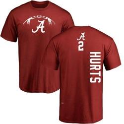 Men's Jalen Hurts Alabama Crimson Tide Football Backer T-Shirt - Crimson