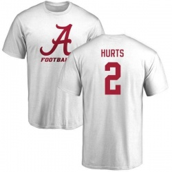 Men's Jalen Hurts Alabama Crimson Tide One Color T-Shirt - White