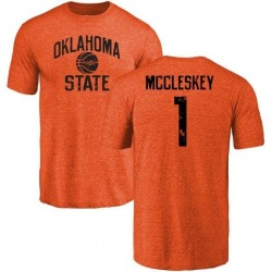 Men's Jalen McCleskey Oklahoma State Cowboys Basketball Tri-Blend T-Shirt - Orange