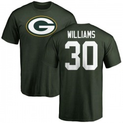 Men's Jamaal Williams Green Bay Packers Name & Number Logo T-Shirt - Green