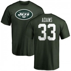 Men's Jamal Adams New York Jets Name & Number Logo T-Shirt - Green