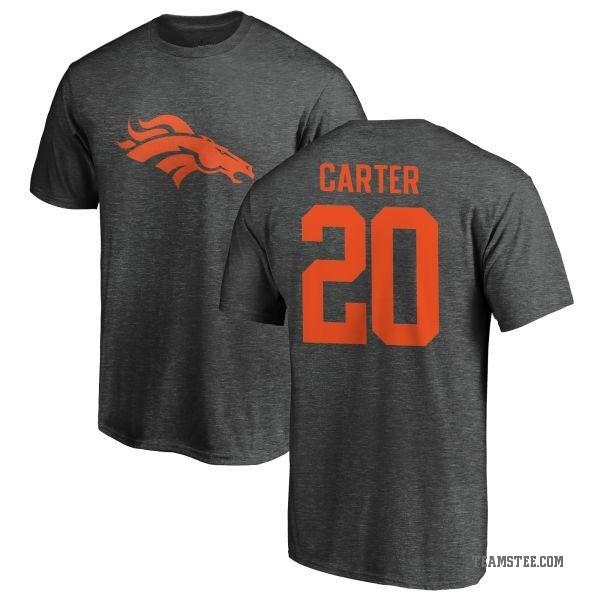 new product a1e62 3edfc Men's Jamal Carter Denver Broncos One Color T-Shirt - Ash - Teams Tee