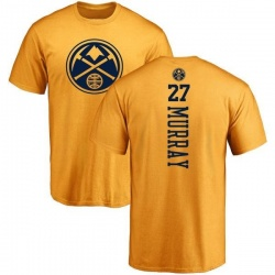 Men's Jamal Murray Denver Nuggets Gold One Color Backer T-Shirt