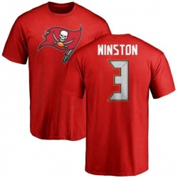 Men's Jameis Winston Tampa Bay Buccaneers Name & Number Logo T-Shirt - Red