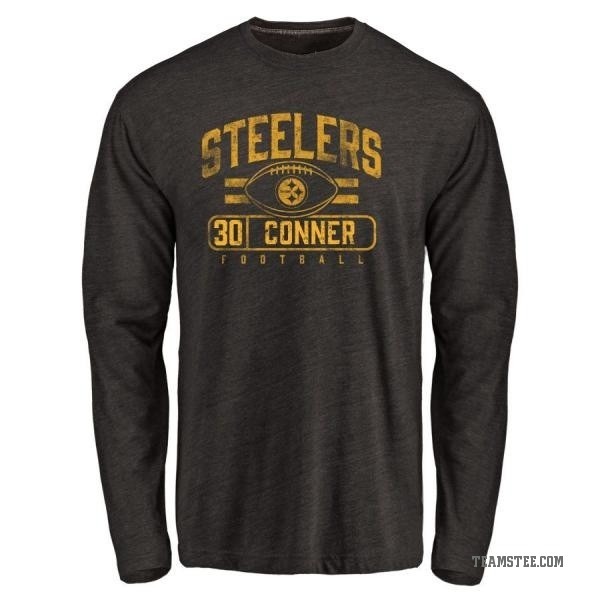 pretty nice 98820 159ac Men's James Conner Pittsburgh Steelers Flanker Tri-Blend Long Sleeve  T-Shirt - Black - Teams Tee