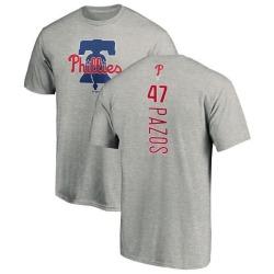 Men's James Pazos Philadelphia Phillies Backer T-Shirt - Ash