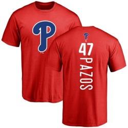 Men's James Pazos Philadelphia Phillies Backer T-Shirt - Red