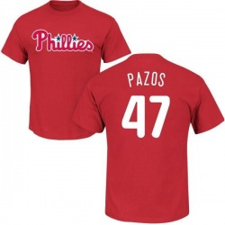 Men's James Pazos Philadelphia Phillies Roster Name & Number T-Shirt - Red