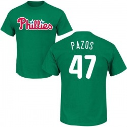 Men's James Pazos Philadelphia Phillies St. Patrick's Day Roster Name & Number T-Shirt - Green