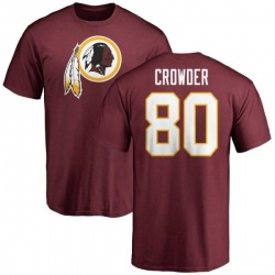 Men's Jamison Crowder Washington Redskins Name & Number Logo T-Shirt - Maroon