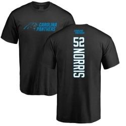 Men's Jared Norris Carolina Panthers Backer T-Shirt - Black