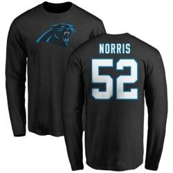 Men's Jared Norris Carolina Panthers Name & Number Logo Long Sleeve T-Shirt - Black