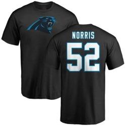 Men's Jared Norris Carolina Panthers Name & Number Logo T-Shirt - Black