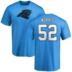 Men's Jared Norris Carolina Panthers Name & Number Logo T-Shirt - Blue