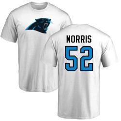 Men's Jared Norris Carolina Panthers Name & Number Logo T-Shirt - White