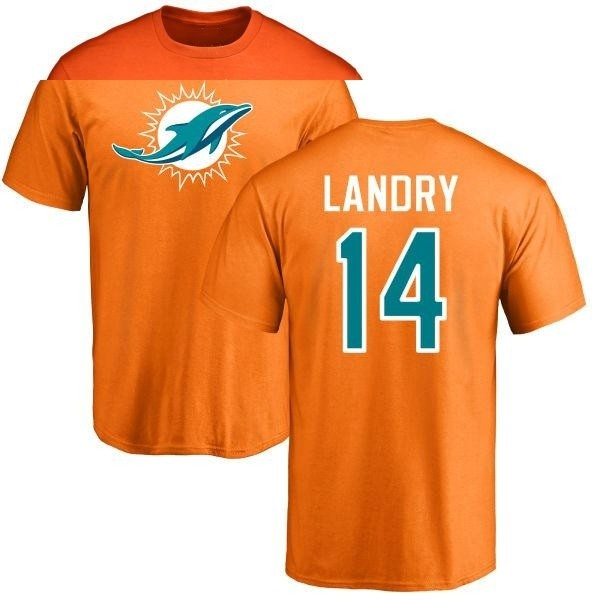 separation shoes 82200 aaf65 Men's Jarvis Landry Miami Dolphins Name & Number Logo T-Shirt - Orange -  Teams Tee