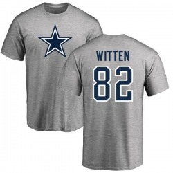 Men's Jason Witten Dallas Cowboys Name & Number Logo T-shirt - Gray