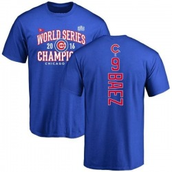 Men's Javier Baez Chicago Cubs 2016 World Series Champions Back Name & Number T-Shirt - Royal