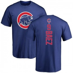 Men's Javier Baez Chicago Cubs Backer T-Shirt - Royal
