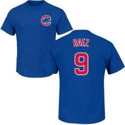 Men's Javier Baez Chicago Cubs Roster Name & Number T-Shirt - Royal