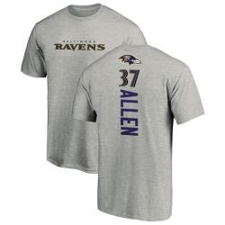 Men's Javorius Allen Baltimore Ravens Backer T-Shirt - Ash