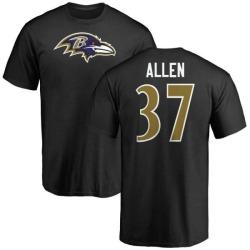 Men's Javorius Allen Baltimore Ravens Name & Number Logo T-Shirt - Black