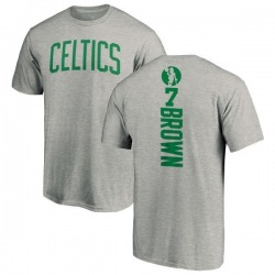 Men's Jaylen Brown Boston Celtics Ash Backer T-Shirt