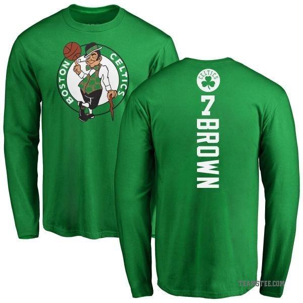 outlet store f940a 67c77 Men's Jaylen Brown Boston Celtics Kelly Green Backer Long Sleeve T-Shirt -  Teams Tee