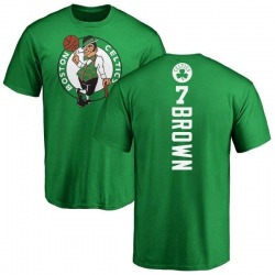 Men's Jaylen Brown Boston Celtics Kelly Green Backer T-Shirt