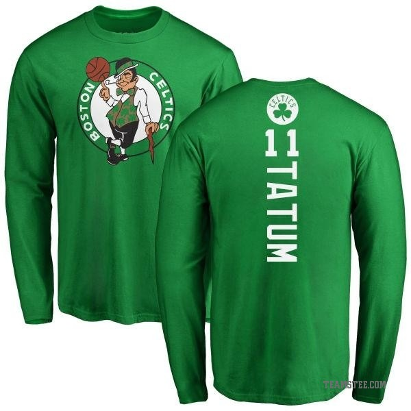 separation shoes a7c7c 67b75 Men's Jayson Tatum Boston Celtics Kelly Green Backer Long Sleeve T-Shirt -  Teams Tee