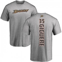 Men's Jean-Sebastien Giguere Anaheim Ducks Backer T-Shirt - Ash
