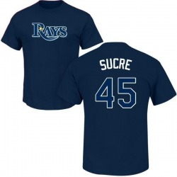 Men's Jesus Sucre Tampa Bay Rays Roster Name & Number T-Shirt - Navy