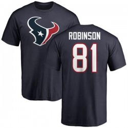 Men's Jevoni Robinson Houston Texans Name & Number Logo T-Shirt - Navy