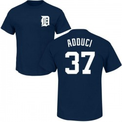 Men's Jim Adduci Detroit Tigers Roster Name & Number T-Shirt - Navy