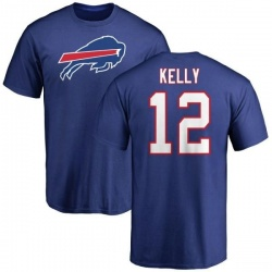 Men's Jim Kelly Buffalo Bills Name & Number Logo T-Shirt - Royal