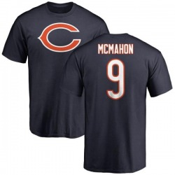Men's Jim McMahon Chicago Bears Name & Number Logo T-Shirt - Navy