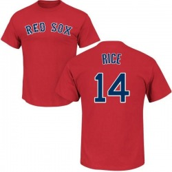 Men's Jim Rice Boston Red Sox Roster Name & Number T-Shirt - Scarlet