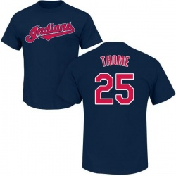 Men's Jim Thome Cleveland Indians Roster Name & Number T-Shirt - Navy