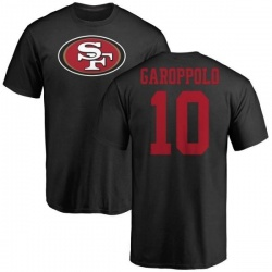 Men's Jimmy Garoppolo San Francisco 49ers Name & Number Logo T-Shirt - Black