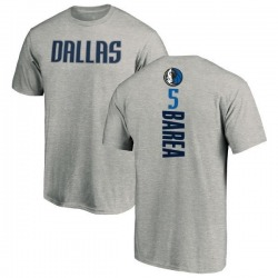 Men's J.J. Barea Dallas Mavericks Ash Backer T-Shirt