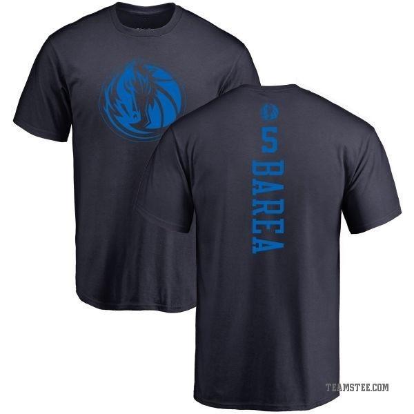 45fc5f00cb16 Men s J.J. Barea Dallas Mavericks Navy One Color Backer T-Shirt ...