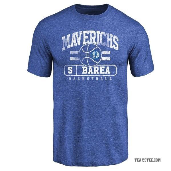91963e6eb9bd Men s J.J. Barea Dallas Mavericks Royal Baseline Tri-Blend T-Shirt ...