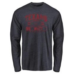Men's J.J. Watt Houston Texans Flanker Tri-Blend Long Sleeve T-Shirt - Navy