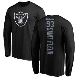 Men's Joby Saint Fleur Oakland Raiders Backer Long Sleeve T-Shirt - Black