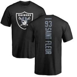 Men's Joby Saint Fleur Oakland Raiders Backer T-Shirt - Black