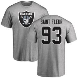 Men's Joby Saint Fleur Oakland Raiders Name & Number Logo T-Shirt - Ash