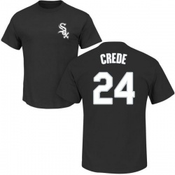 Men's Joe Crede Chicago White Sox Roster Name & Number T-Shirt - Black