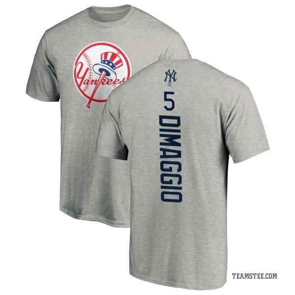 cheap for discount 7052f 0a16d Men's Joe DiMaggio New York Yankees Backer T-Shirt - Ash - Teams Tee