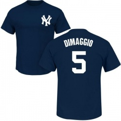Men's Joe DiMaggio New York Yankees Roster Name & Number T-Shirt - Navy